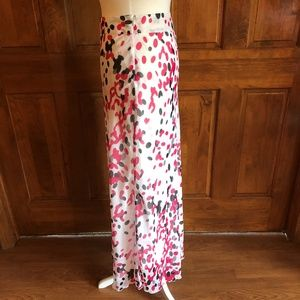 Cato White with Pink & Gray Maxi Skirt 12